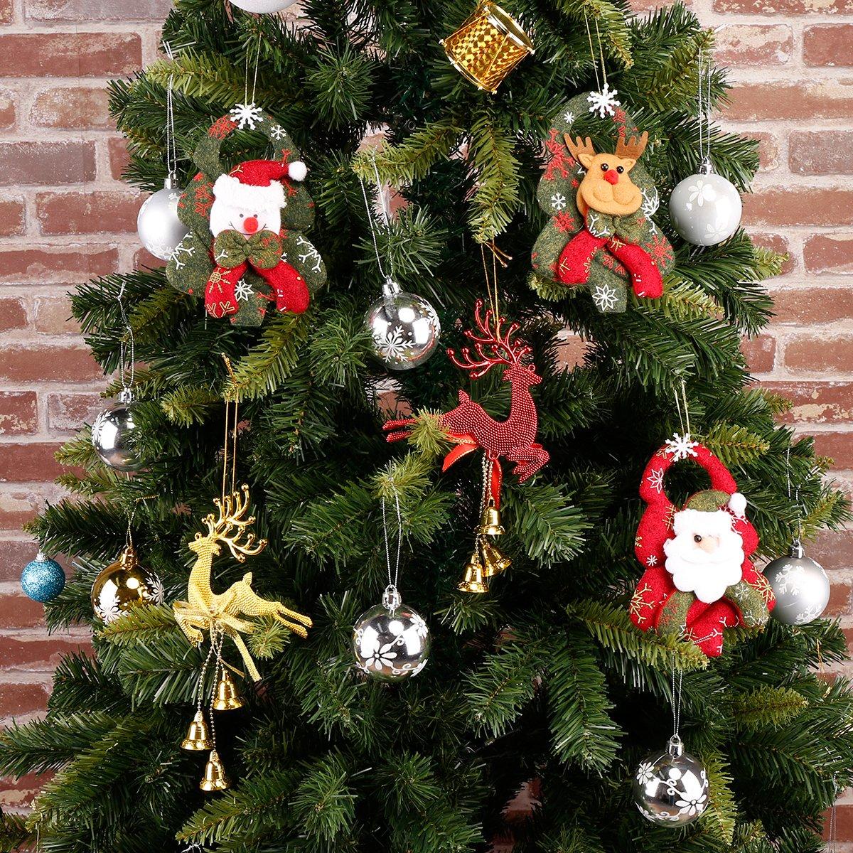Nuovo Moda e Elegante 3D Ornamenti di Natale Albero di Natale Ciondolo Natale Festival Albero Soprammobili Accessori Non Tessuto Ciondolo Tridimensionale Babbo Natale Ciondolo Albero Alce (Renna)