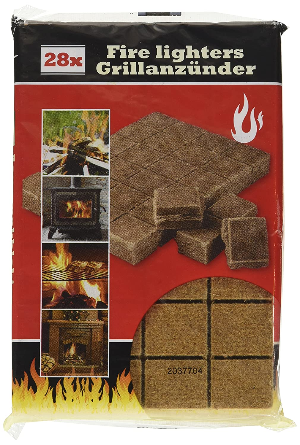 BBQ Collection 871125232600 Lighter Cubes For Grill, Fireplace and Stove 28 Pack of 12 x 1.7 mm x 18.5 cm Red