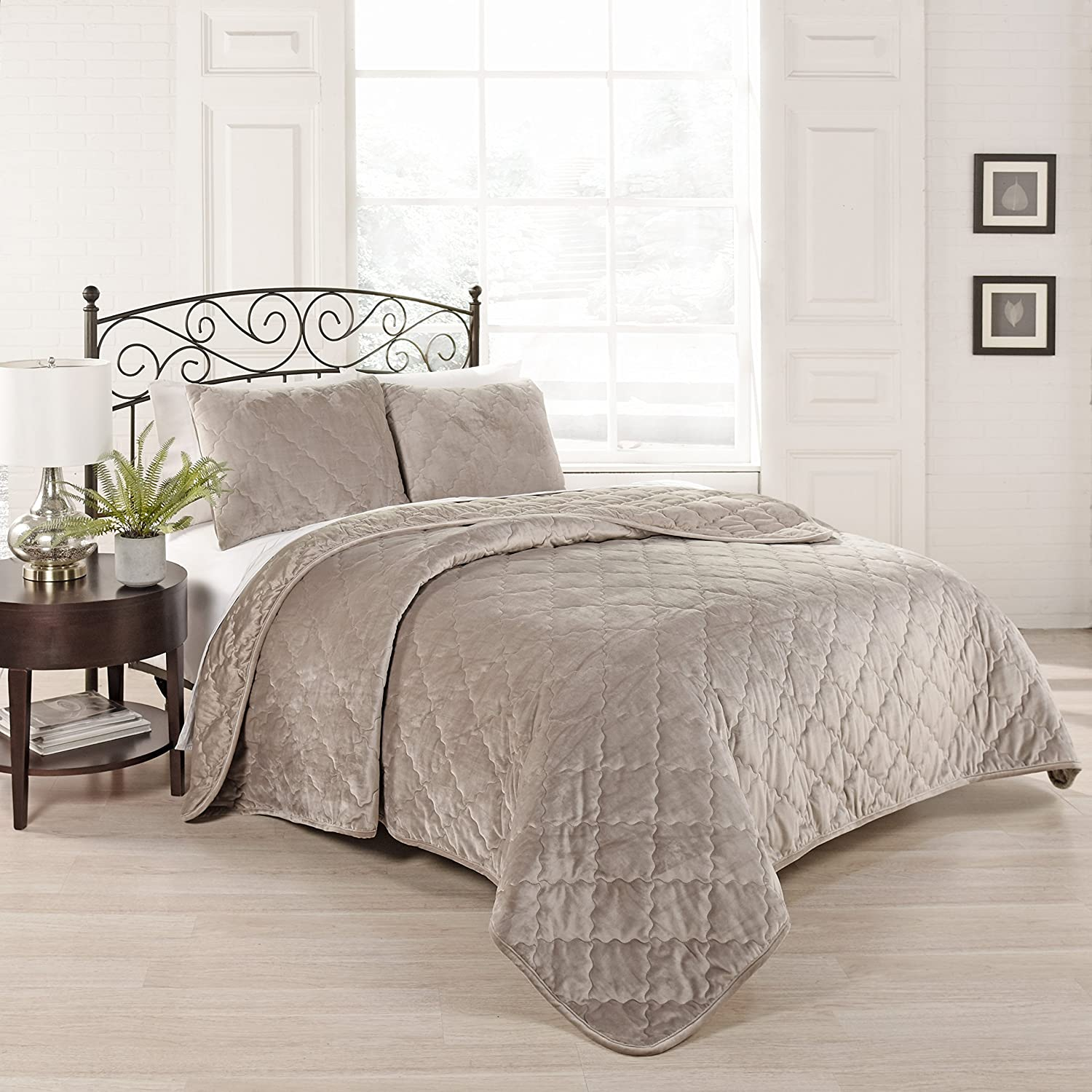 Smoke Ellery Homestyles 15797beddkngsmk Beautyrest Casimir Plaid 108 Inch By 90 Inch 3 Piece King Comforter
