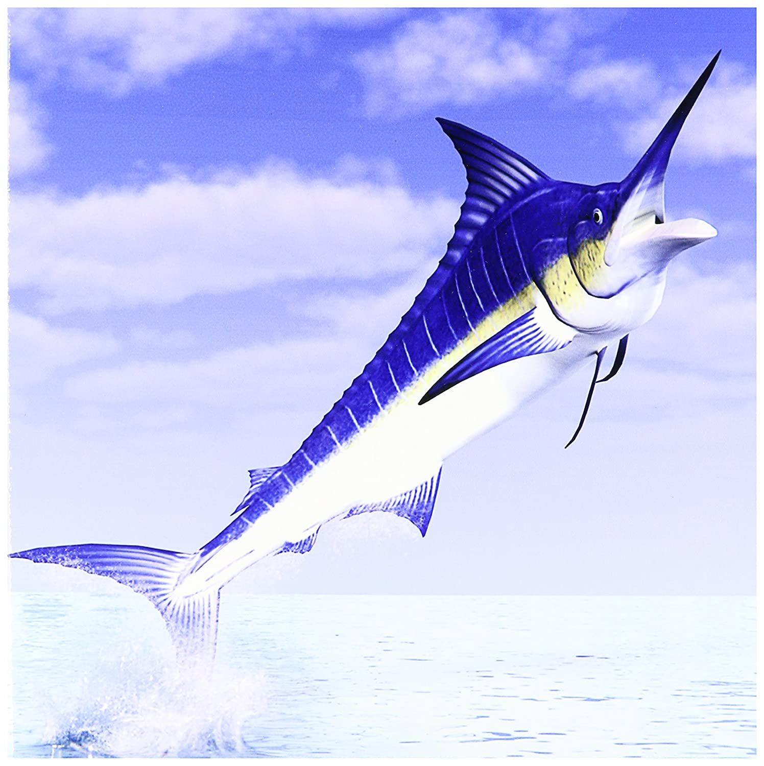 Amazon 3drose Ct588194 Marlin Fish Coming Out Of The Water