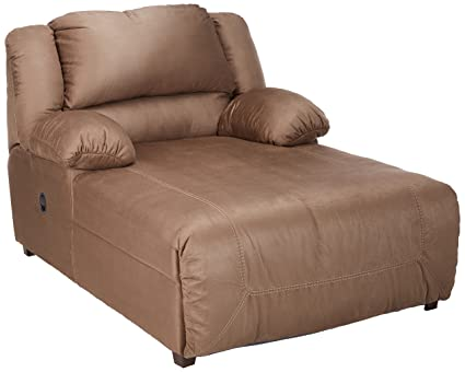 Terrific Ashley Furniture Signature Design Hogan Contemporary Press Back Chaise Tan Interior Design Ideas Ghosoteloinfo