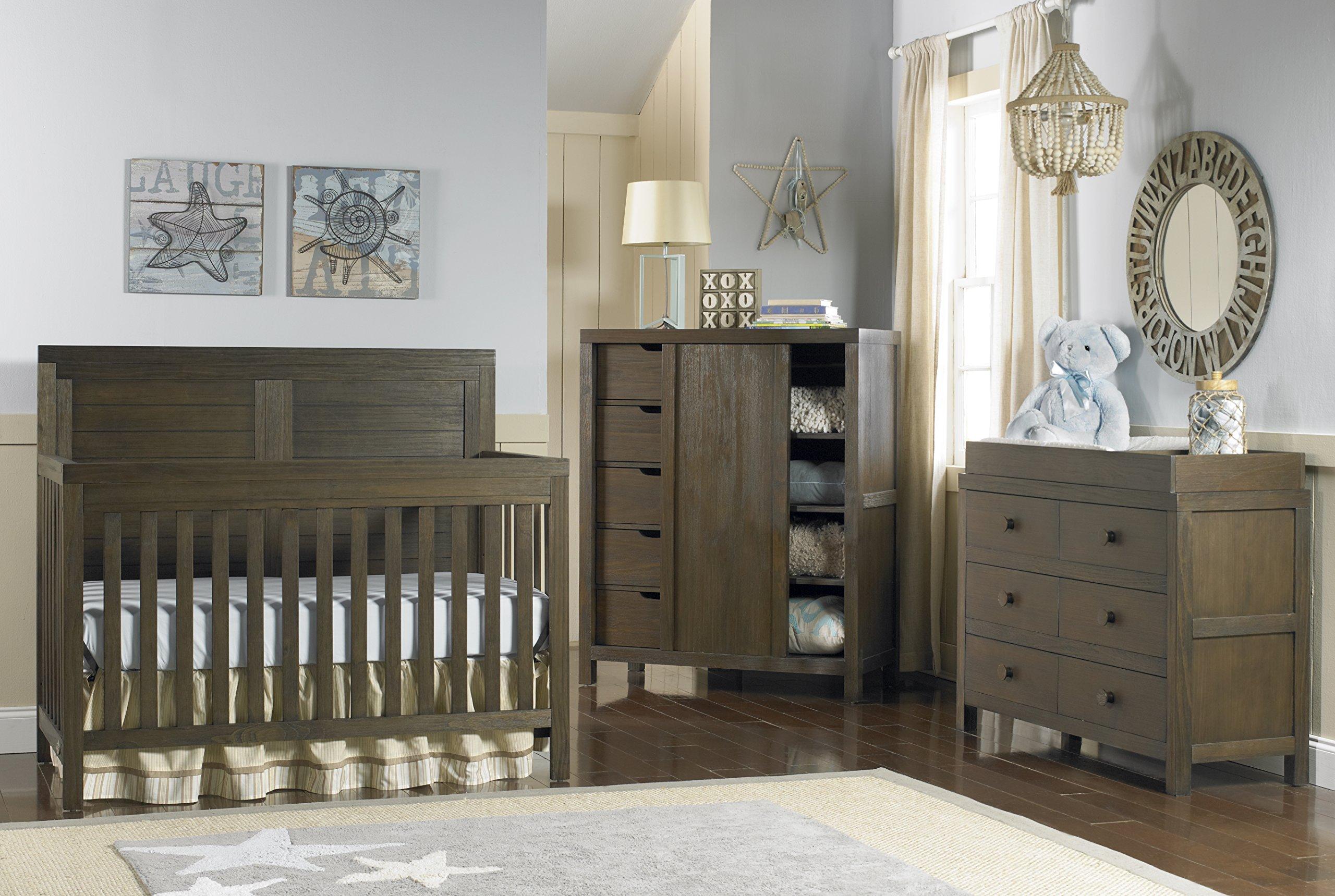 Ti Amo Castello 4 in 1 Convertible Crib, Wire Brushed Brown by Tiamo (Image #2)
