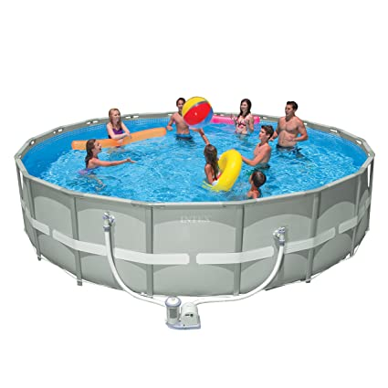 Amazon Com Intex Ultra Frame 18 X 48 Swimming Pool Round