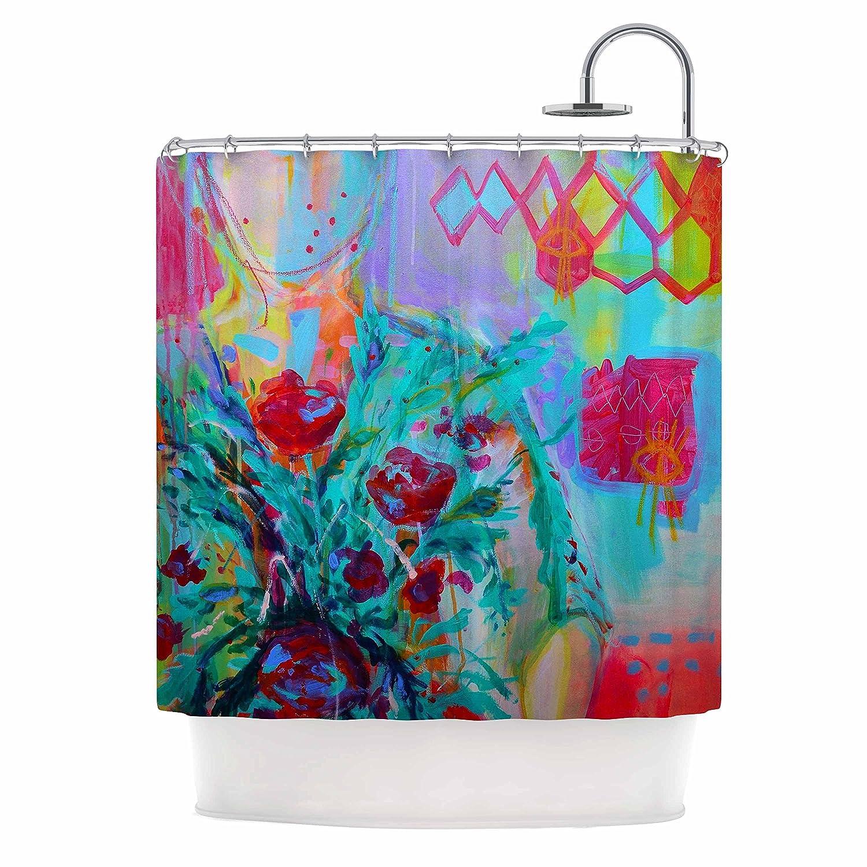69 x 70 Shower Curtain Kess InHouse Shirlei Patricia Muniz Tropical Style Yellow Nature