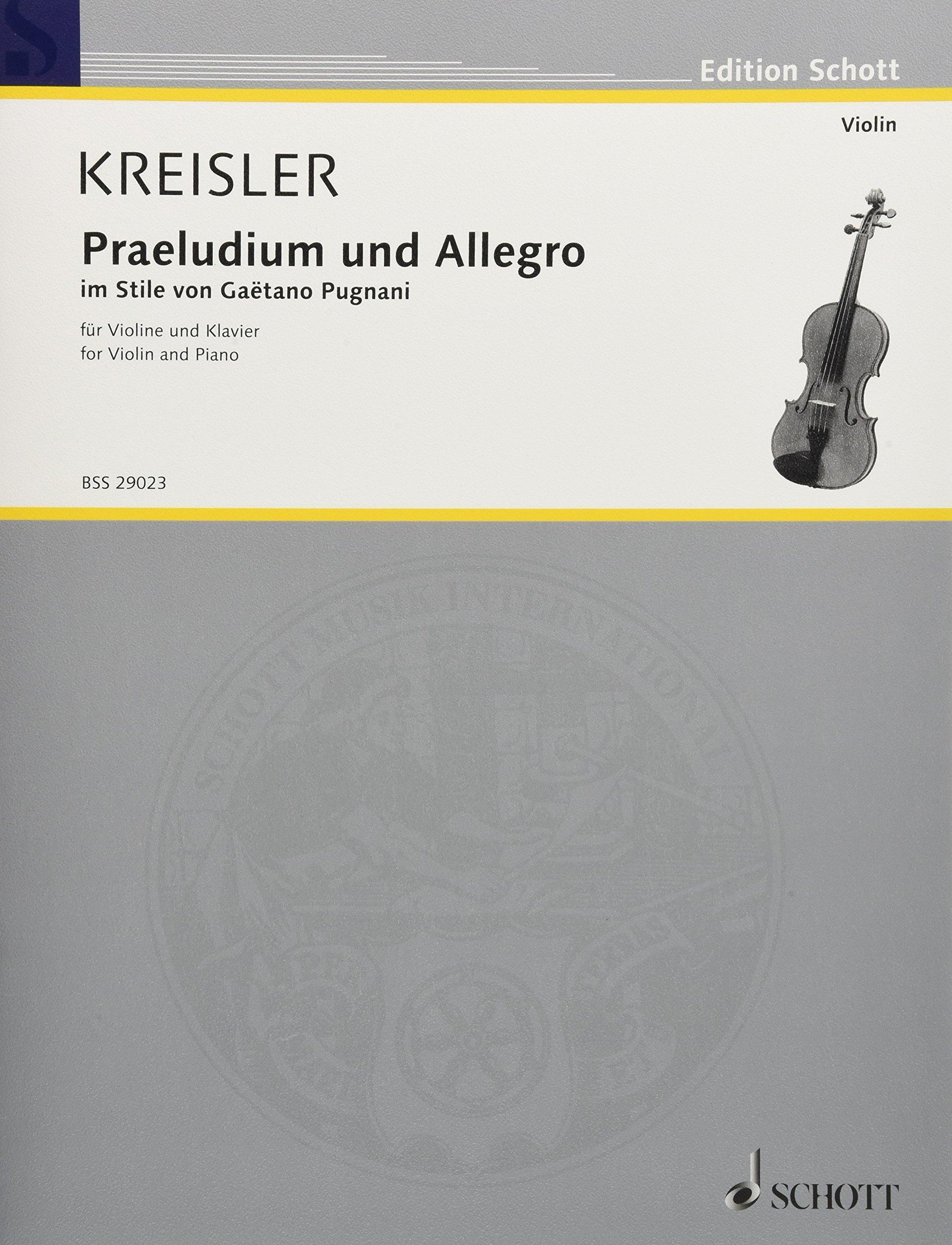 Praeludium und Allegro: im Stile von Gaetano Pugnani. Violine und ...