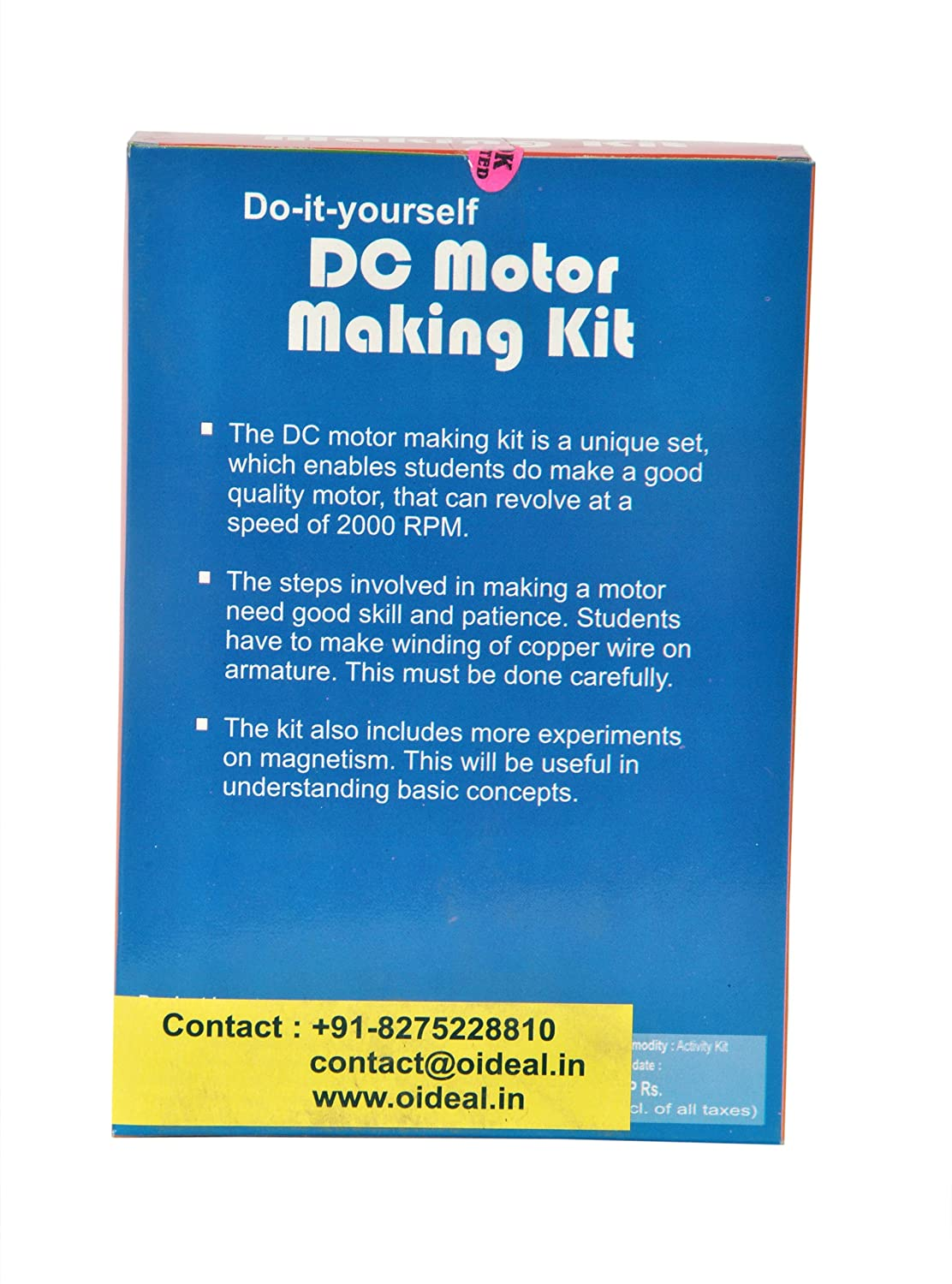 Buy Do It Yourself DC Motor Making Kit Educational Learning Toy ...