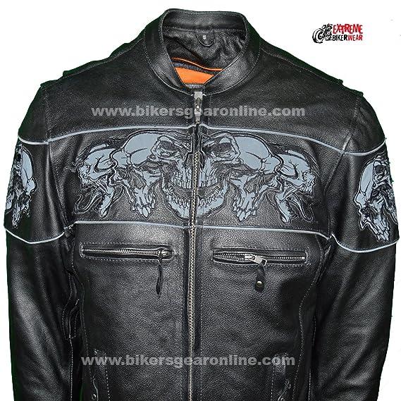 Amazon.com: Dealer Leather - Chaqueta de piel para hombre ...