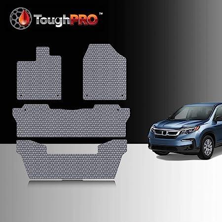Intro-Tech HO-650-CF Medium Cargo Area Custom Fit Floor Mat for Select Honda Pilot Models w//3rd Row Down Simulated Carbon Fiber