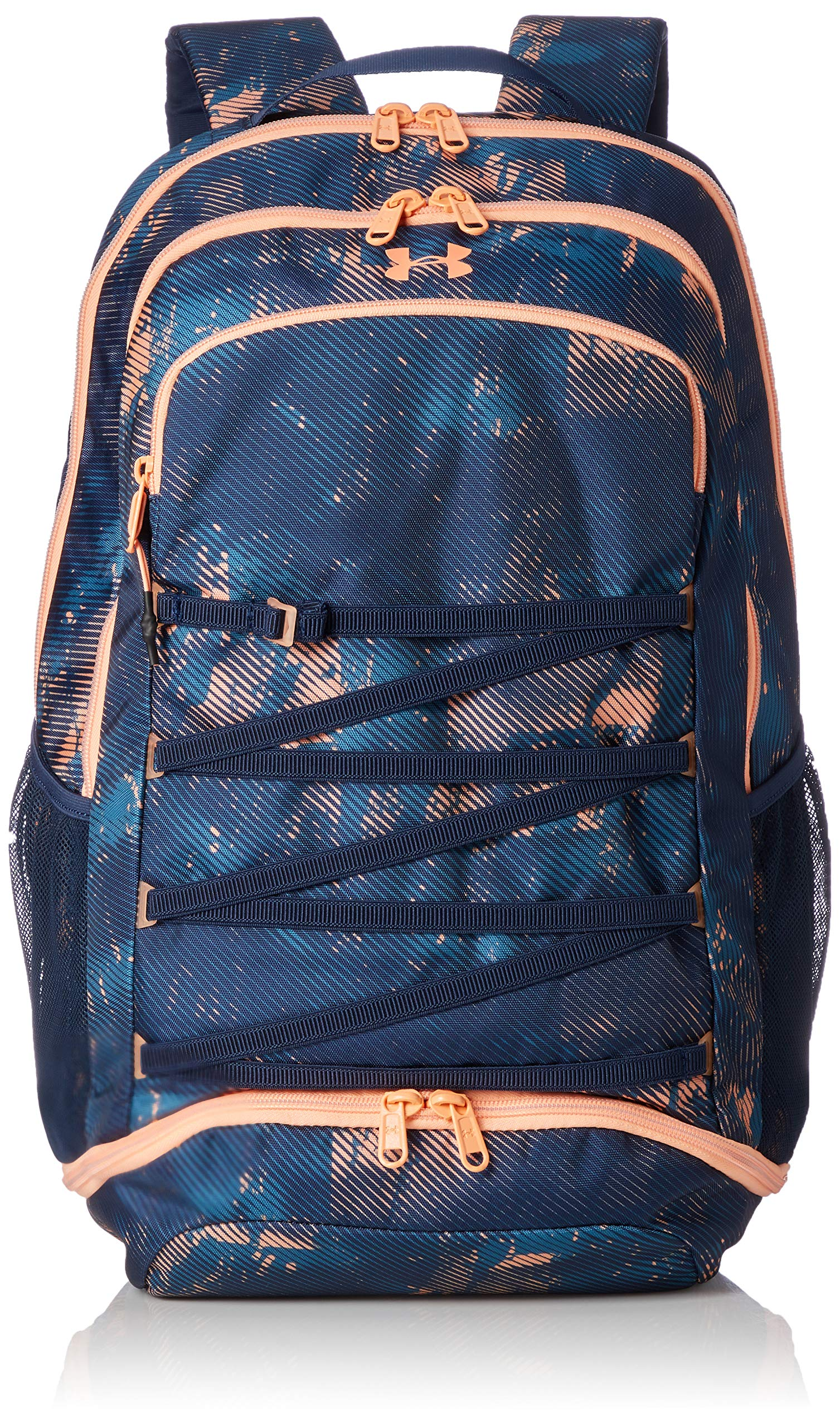 Under Armour Womens Tempo Backpack, Academy (408)/Peach Horizon, One Size