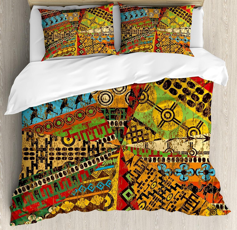 Black Grey Ambesonne Dark Grey Duvet Cover Set Decorative 3 Piece Bedding Set with 2 Pillow Shams King Size Black Damask and Floral Elements Oriental Antique Ornament Vintage