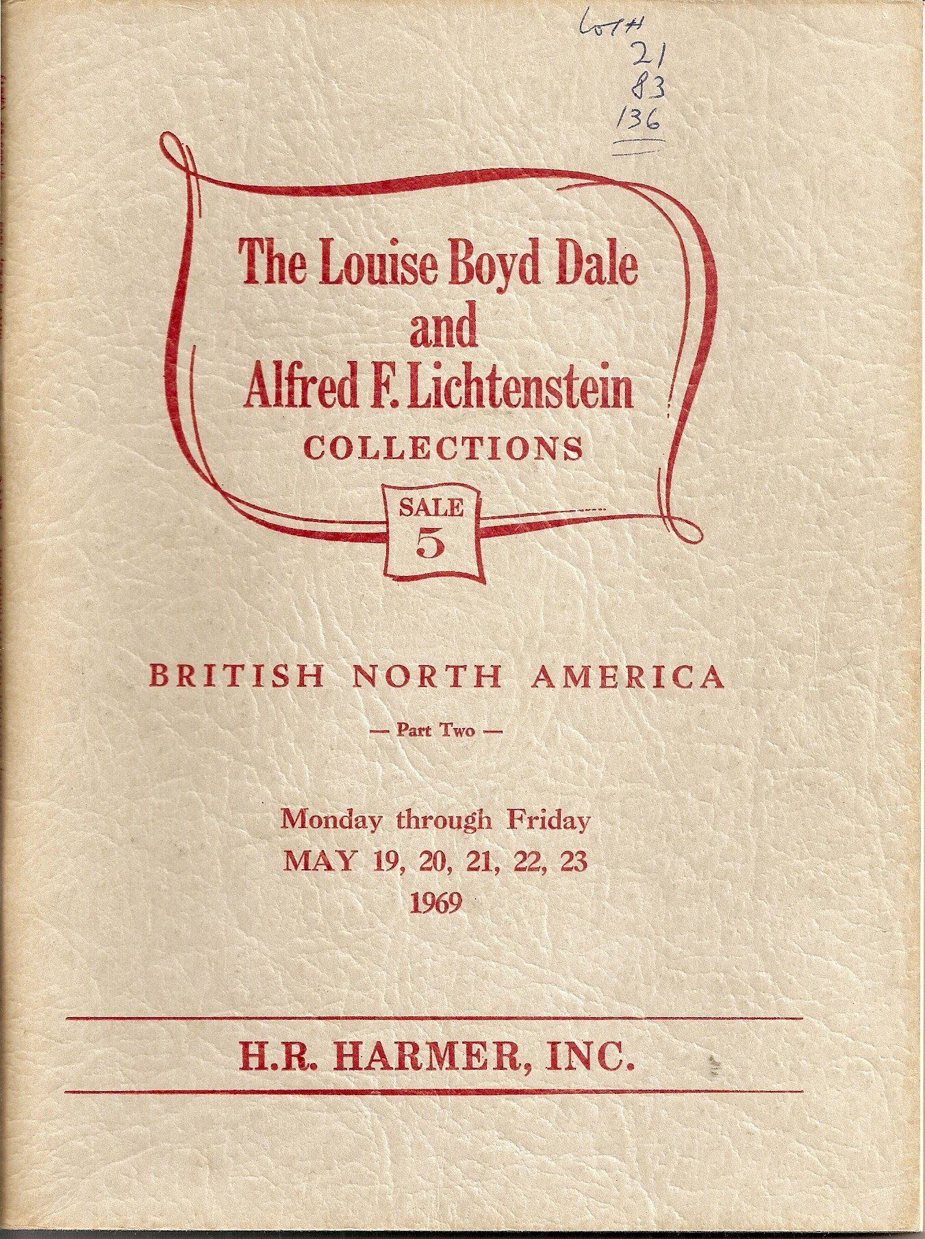 The Louise Boyd Dale and Alfred F  Lichtenstein Collections, Sale 5