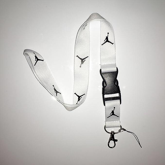 ENTREGA GRATUITA* Nuevo Blanco Jordan cinta para llaves, ID ...