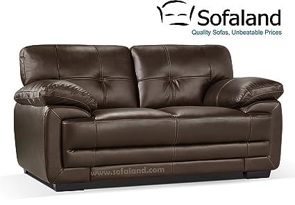 2 plazas de piel sofá Hayley - marrón: Amazon.es: Hogar