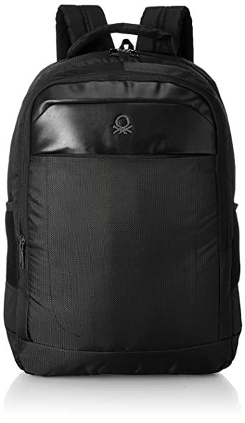 United Colors of Benetton 24 Ltrs Black Laptop Backpack (0IP6BKPD0002I-100)   Amazon.in  Bags 94ff475665