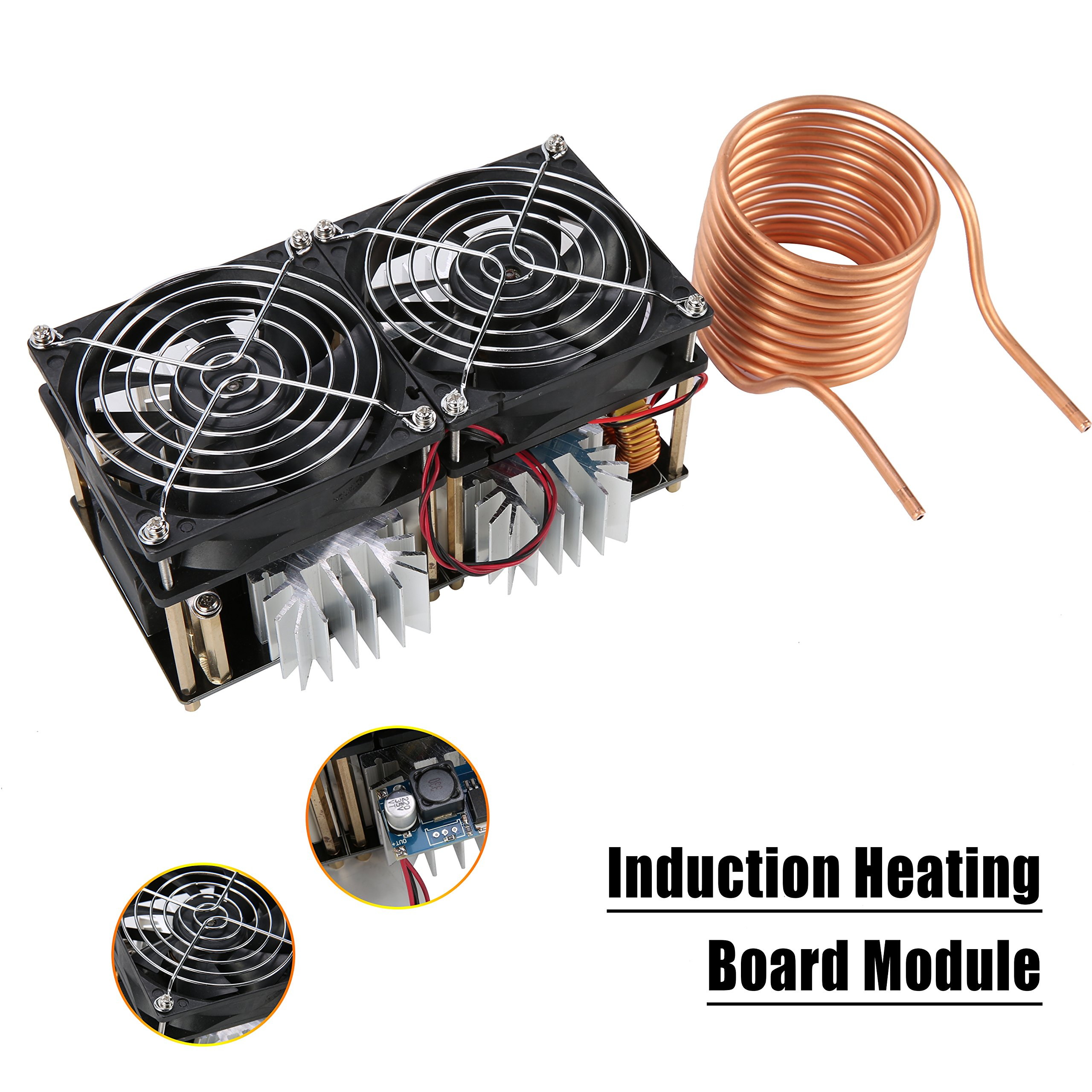 YaeCCC 40A 1800W Low Voltage Induction Heating Board Module Driver Heater