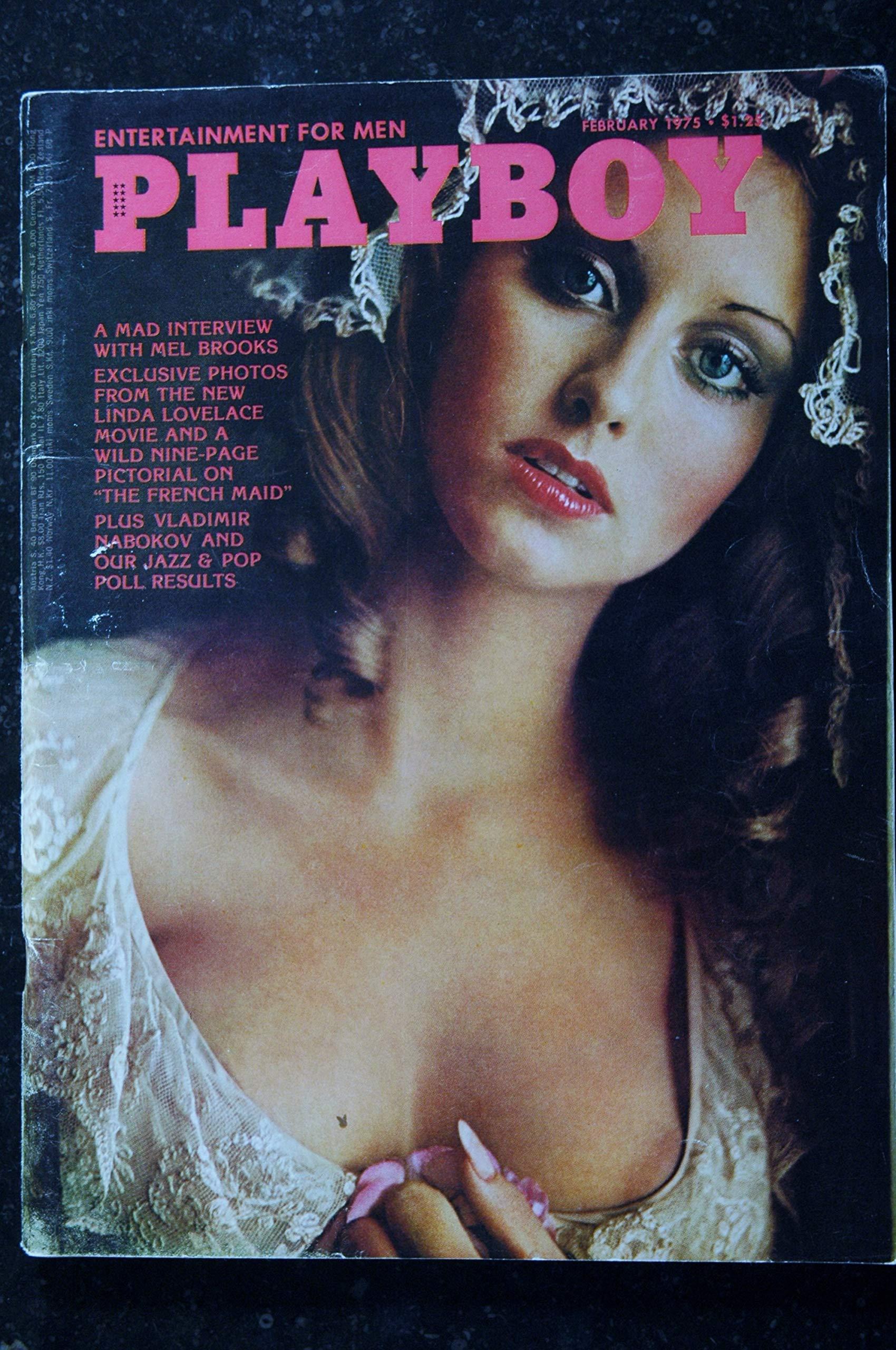 PLAYBOY Us 1975 02 NABOKOV MEL BROOKS PHOTO LINDA LOVELACE INTEGRAL NUDES  HOT LAURA MISCH Single Issue Magazine – January 31, 1975