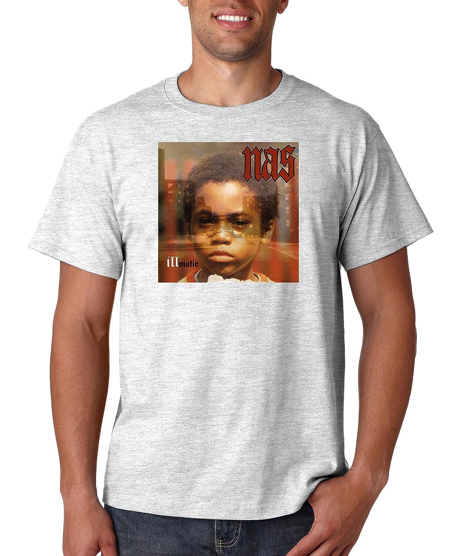 b9333fee Buy Nas Illmatic Album Cover T Shirt Classic Hip Hop Tee Rap Rapper Vintage  Style T-Shirt Nasir (Medium, Ash Grey) and other T-Shirts at Amazon.com.
