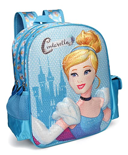 0ed3bc4d82f4 Disney Princess Cinderella Blue School Bag for Children of Age Group 3 - 5  years