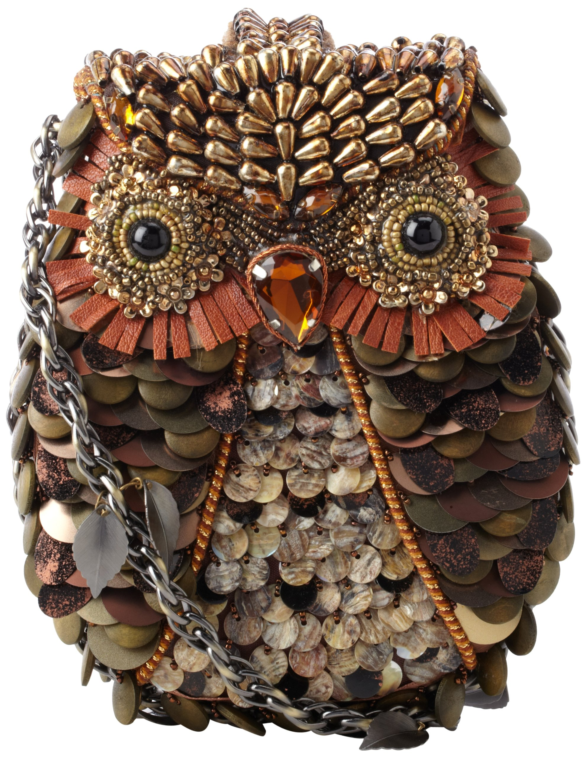 Mary Frances Accessories What A Hoot Shoulder Bag,Bronze Multi,one size by Mary Frances