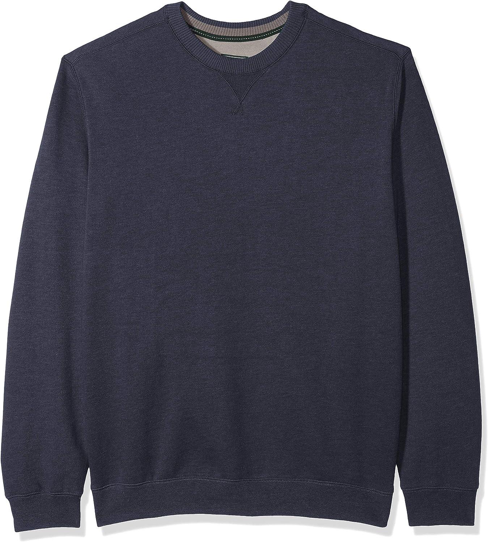 G.H. Bass & Co. Men's Big and Tall Mountain Fleece Crew Long Sleeve Sweatshirt