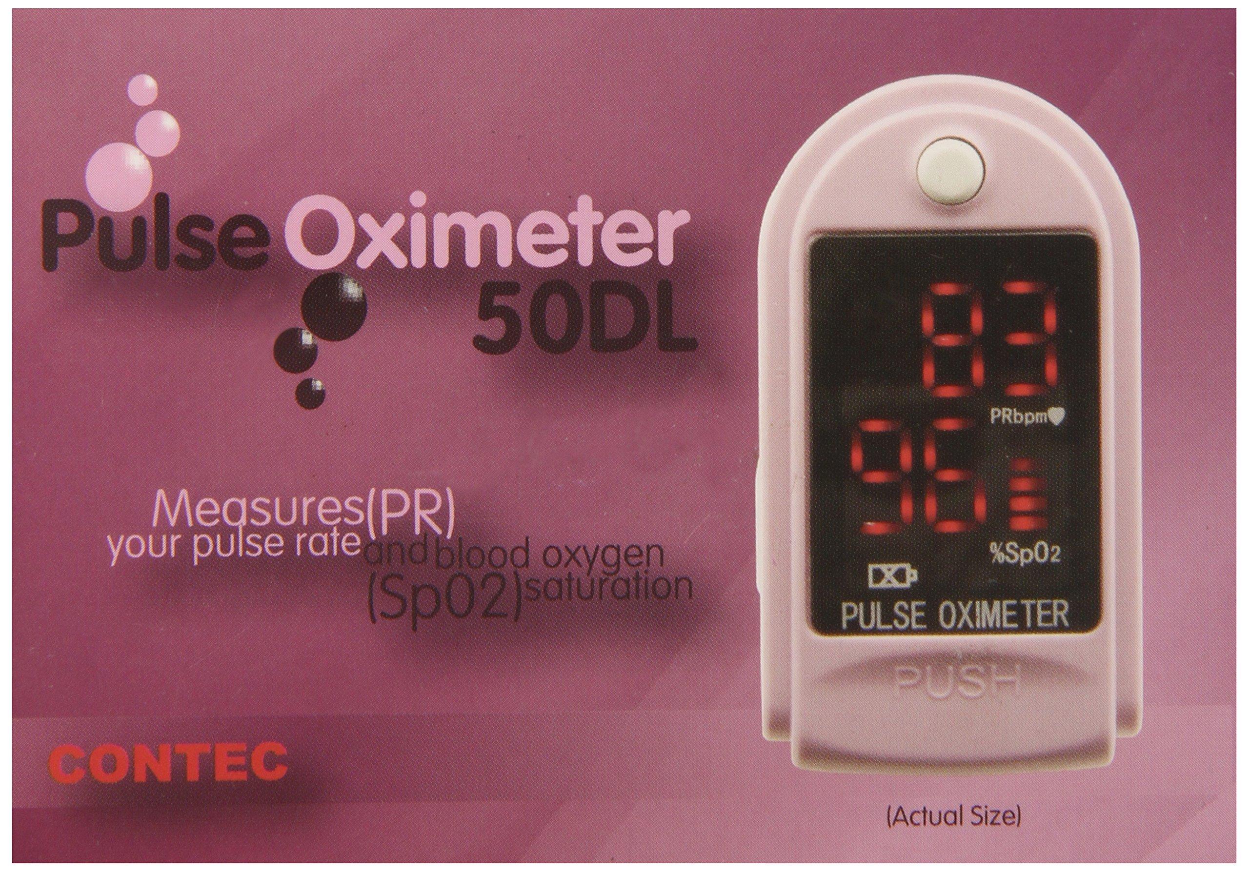Contec Medical Systems 50DL Finger Pulse Oximeter, Pink