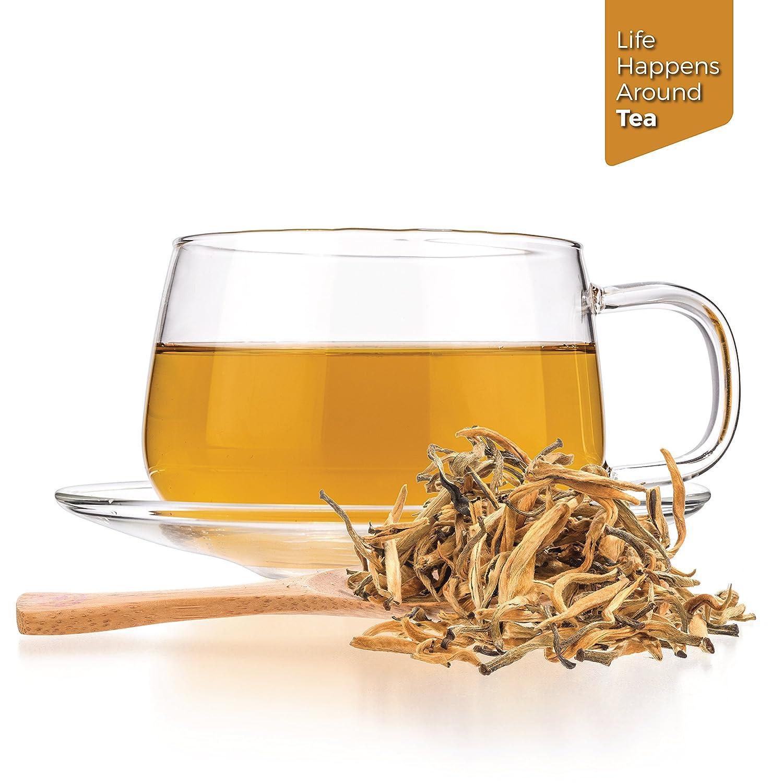 Tealyra - Imperial Golden Monkey - Yunnan Black Loose Leaf Tea - Best Chinese Tea - Organically Grown - Bold Caffeine