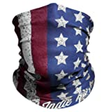 """Red White & Blue """"Old Glory"""" American Flag Outdoor Face Mask By IndieRidge - Microfiber Polyester Multifunctional Seamless Headwear"""