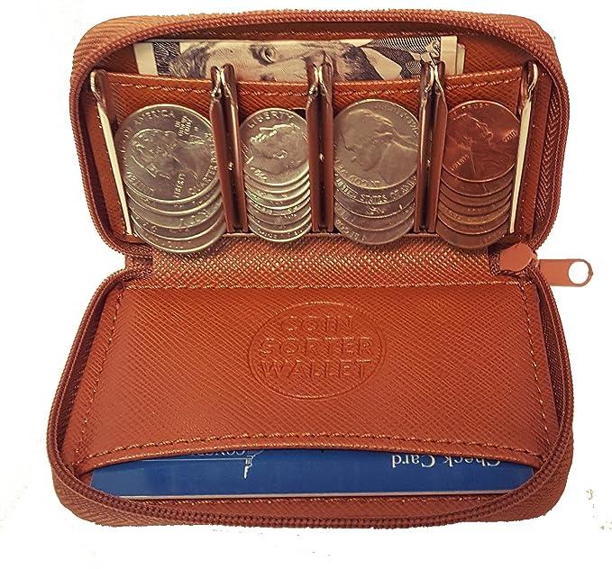 Cartera monedero con clasificador de monedas - cambio rápido ...