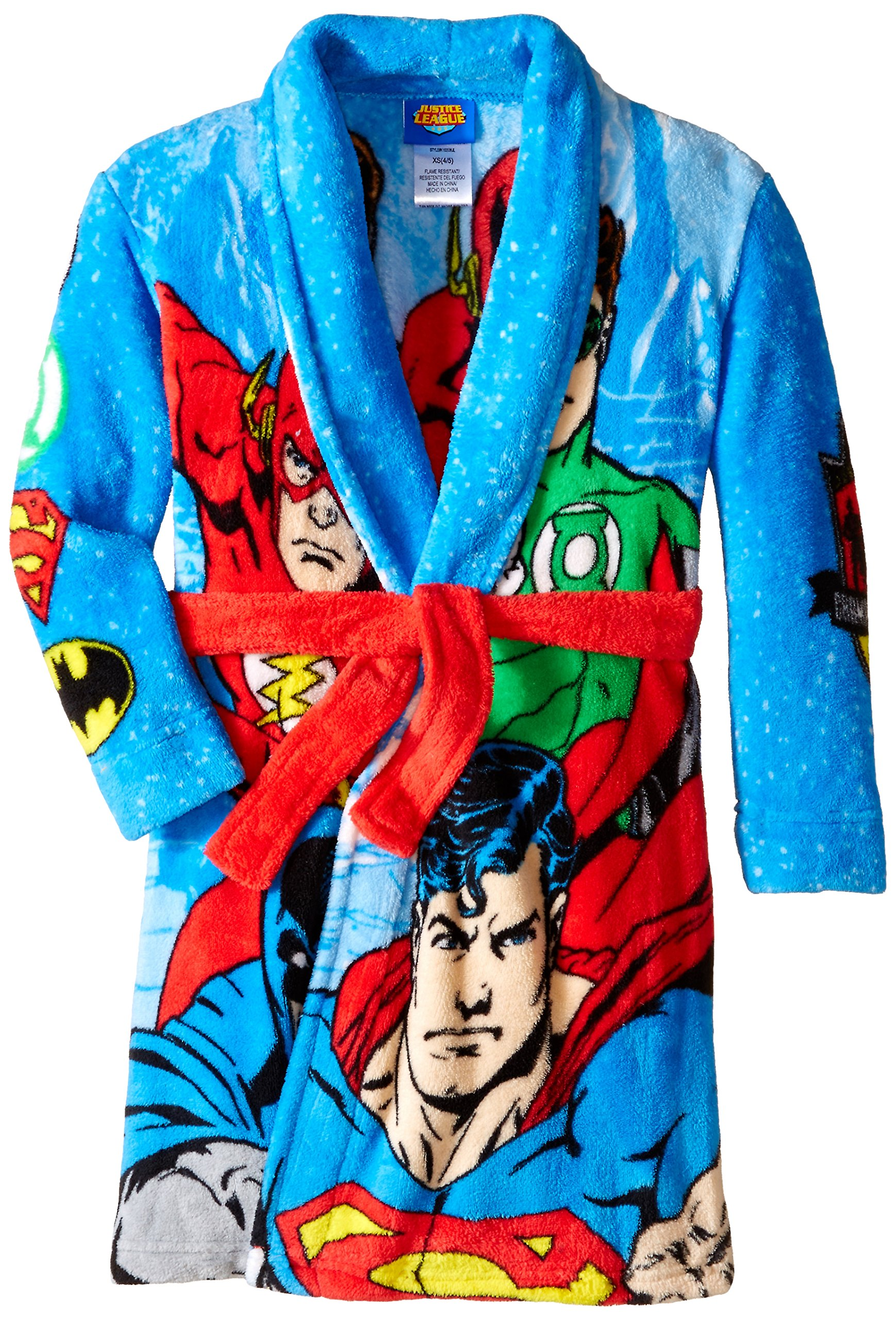 Justice League Big Boys' Fleece Robe, Multi, Small