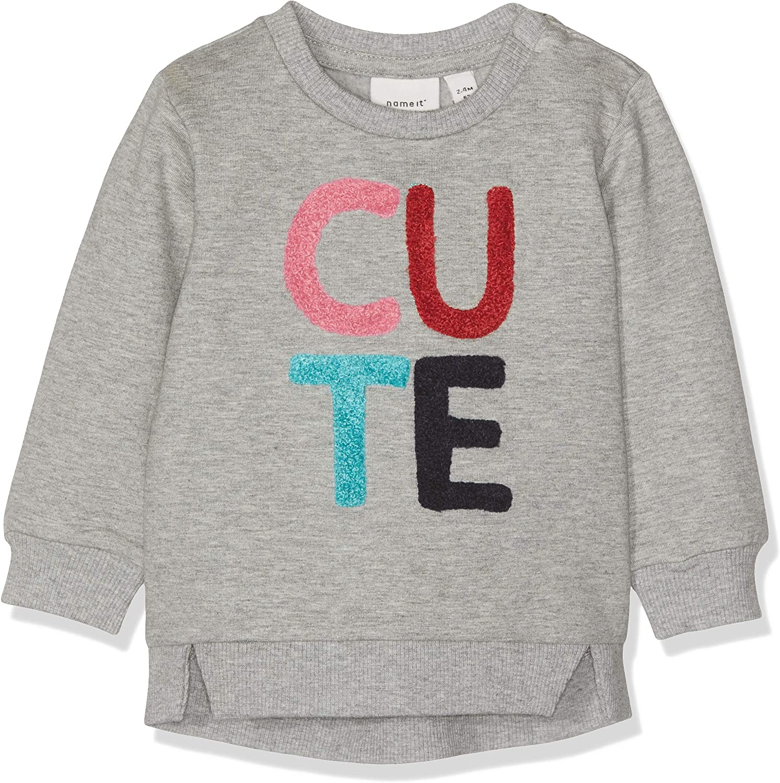 NAME IT Baby-M/ädchen Nbfommi SWE O-Neck Bru Sweatshirt