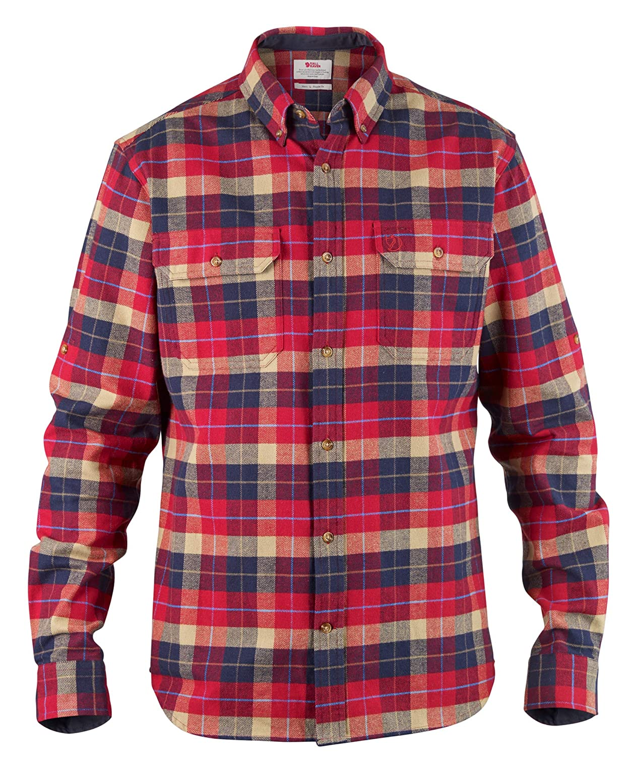 Fjallraven Singi Heavy Flannel Shirt M Long Sleeved T, Hombre, Deep Red, XXL: Amazon.es: Deportes y aire libre