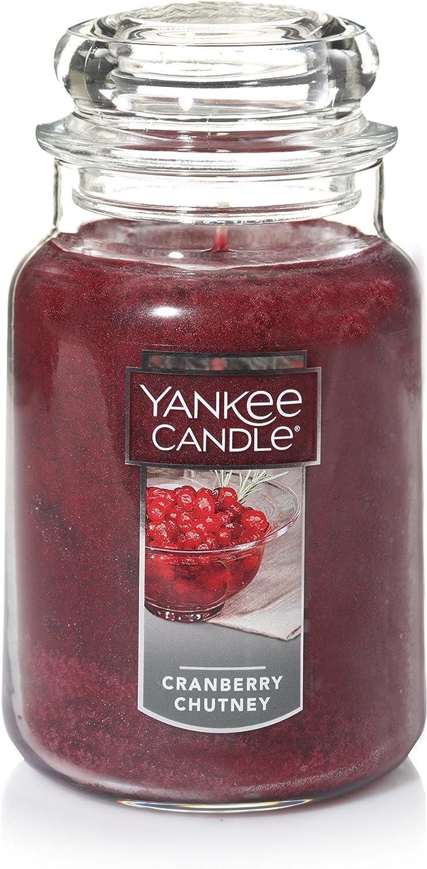Yankee Candle Large Jar Candle, Cranberry Chutney