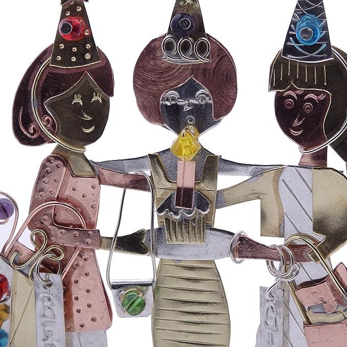 Girlfriends BFF cumpleaños bronce níquel y cobre para colgar, diseño jardín maceta hecho a mano en caja de regalo: Amazon.es: Hogar
