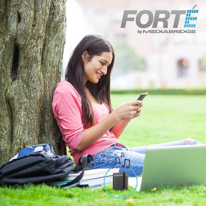 Wireless Speaker with Rechargeable Battery Part# BTS-1B Mediabridge Forte Portable Bluetooth Speaker with Powered Rear-Firing Subwoofer