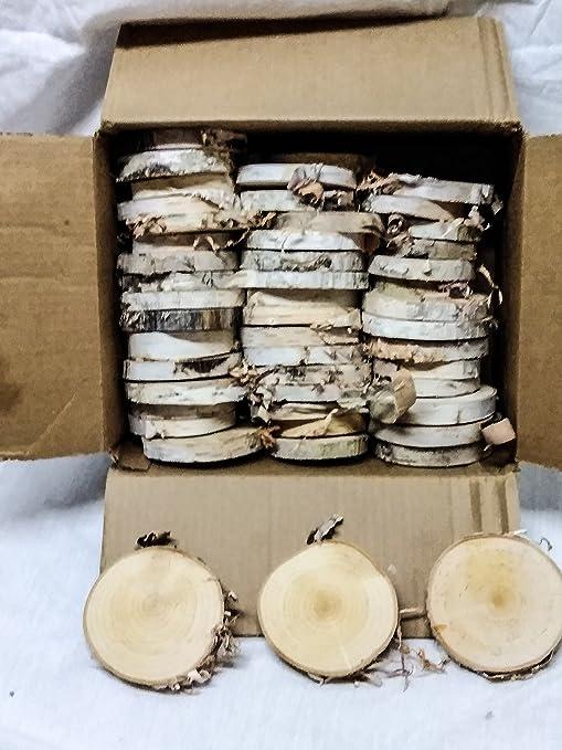 Amazon natural log slice birch tree bark wedding table amazon natural log slice birch tree bark wedding table decoration centerpiece 15 22cms toys games junglespirit Images