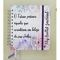 Caderno com Abas - Jardim de Flores (200 páginas 120g, Pontilhado)