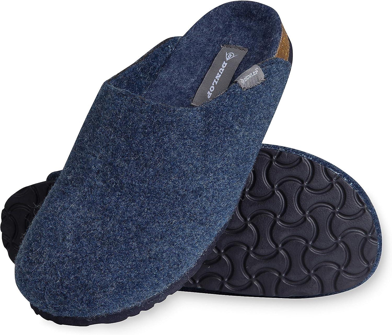 Dunlop Zapatillas Casa Hombre, Pantuflas Hombre Suaves, Zapatillas Hombre con Suela Antideslizante Interior Exterior, Regalos para Hombres y Chicos Adolescentes