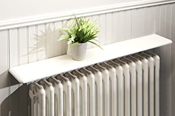 Greenhurst Radiator Shelf White 48inch Amazon Co Uk Kitchen Home