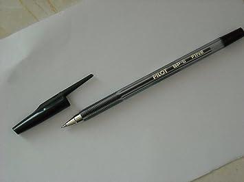 Pilot stylo à bille bp s f fin noir amazon fournitures de bureau