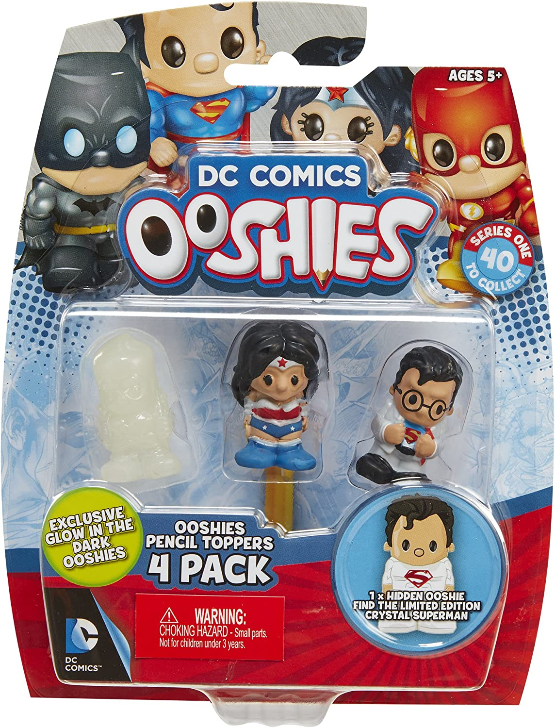 4 Pack Ooshies Set 4 DC Comics Series 1 Action Figure