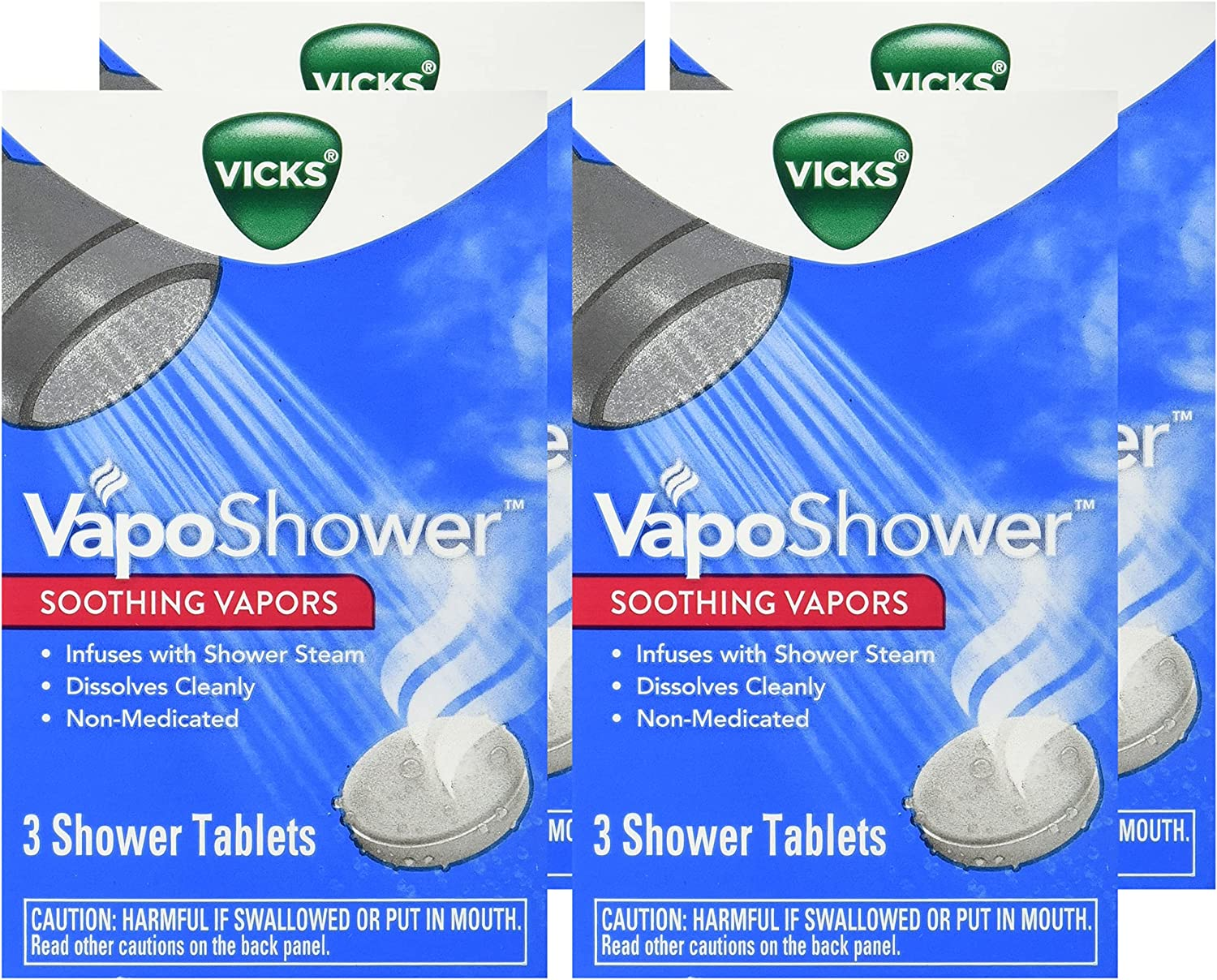 Vicks VapoShower, 3 tablets, (Pack of 4): Health & Personal Care