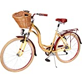 Benotto Bicicleta City Bike R26 7v Aluminio Suspensión Crema