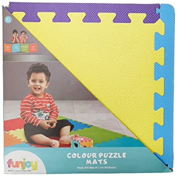 Funjoy Colour Puzzle Mats (9 Pieces)