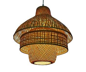 Zimmerlampe Can Tho Dreiteilig Lampe Aus Bambus Als Hngelampe Pendelleuchte Fr Wohnzimmer Schlafzimmer