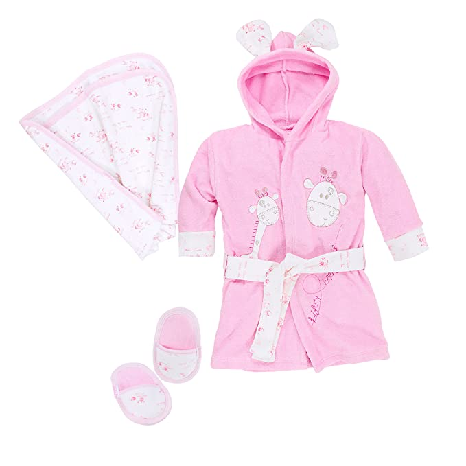 Bebicci - Equipo básico para bebé (juego de albornoz, toalla con