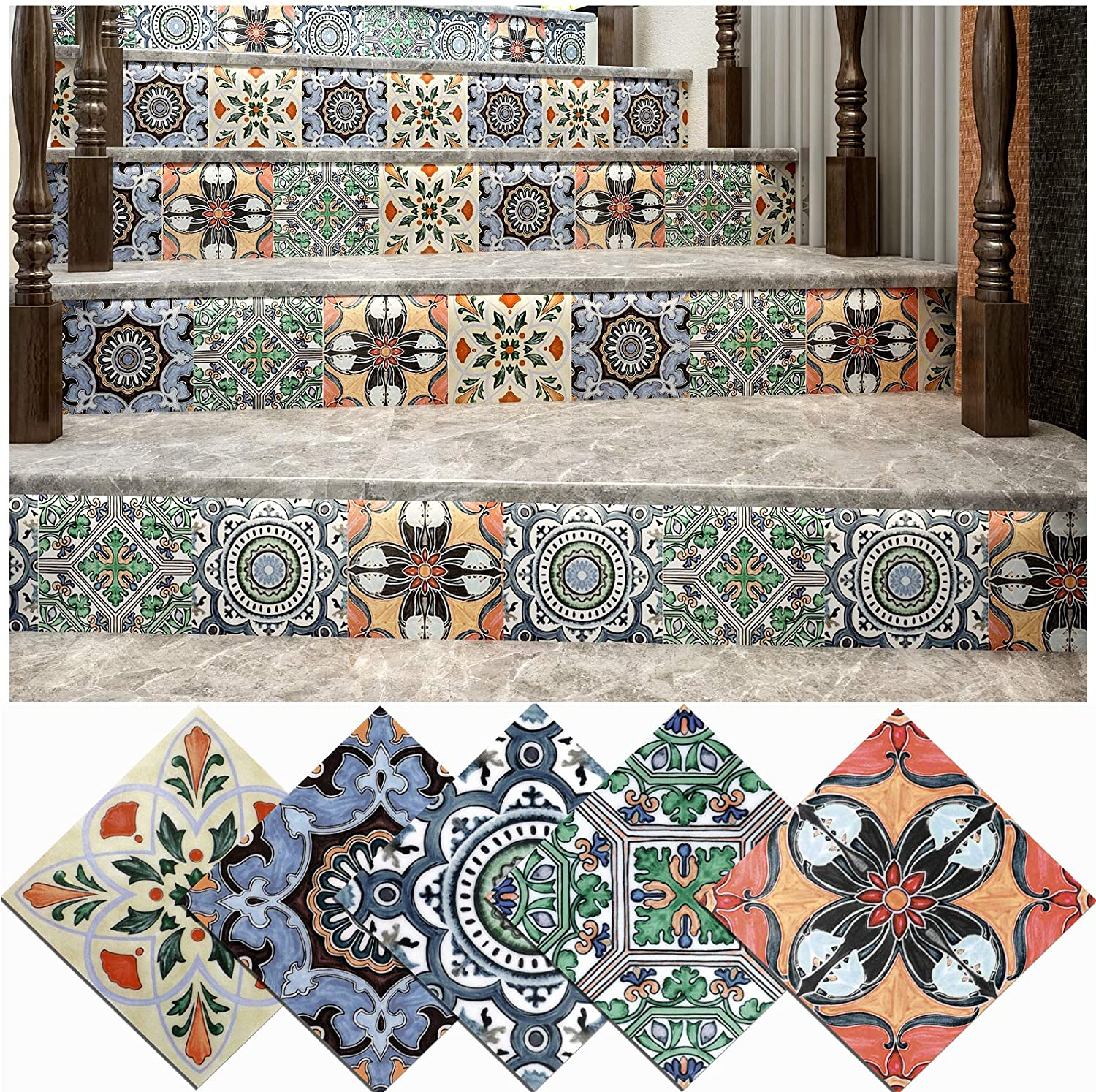 Floor Tiles Decor Stickers Removable Self Adhesive Wall Sticker Home Decor