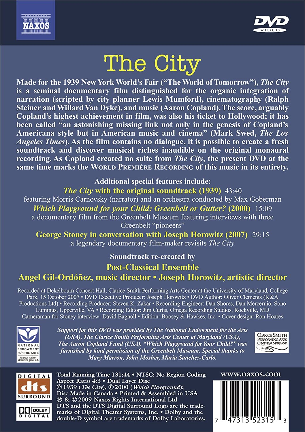 Amazoncom The City The Classic  Documentary With A Newly - Film museums in usa
