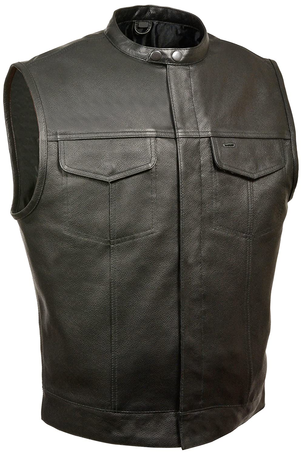 Milwaukee Mens Collared Concealed Snap Vest Black, XX-Large