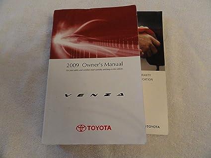 amazon com 2009 toyota venza owners manual everything else rh amazon com 2009 Toyota Venza Pricing 2009 toyota venza owners manual pdf