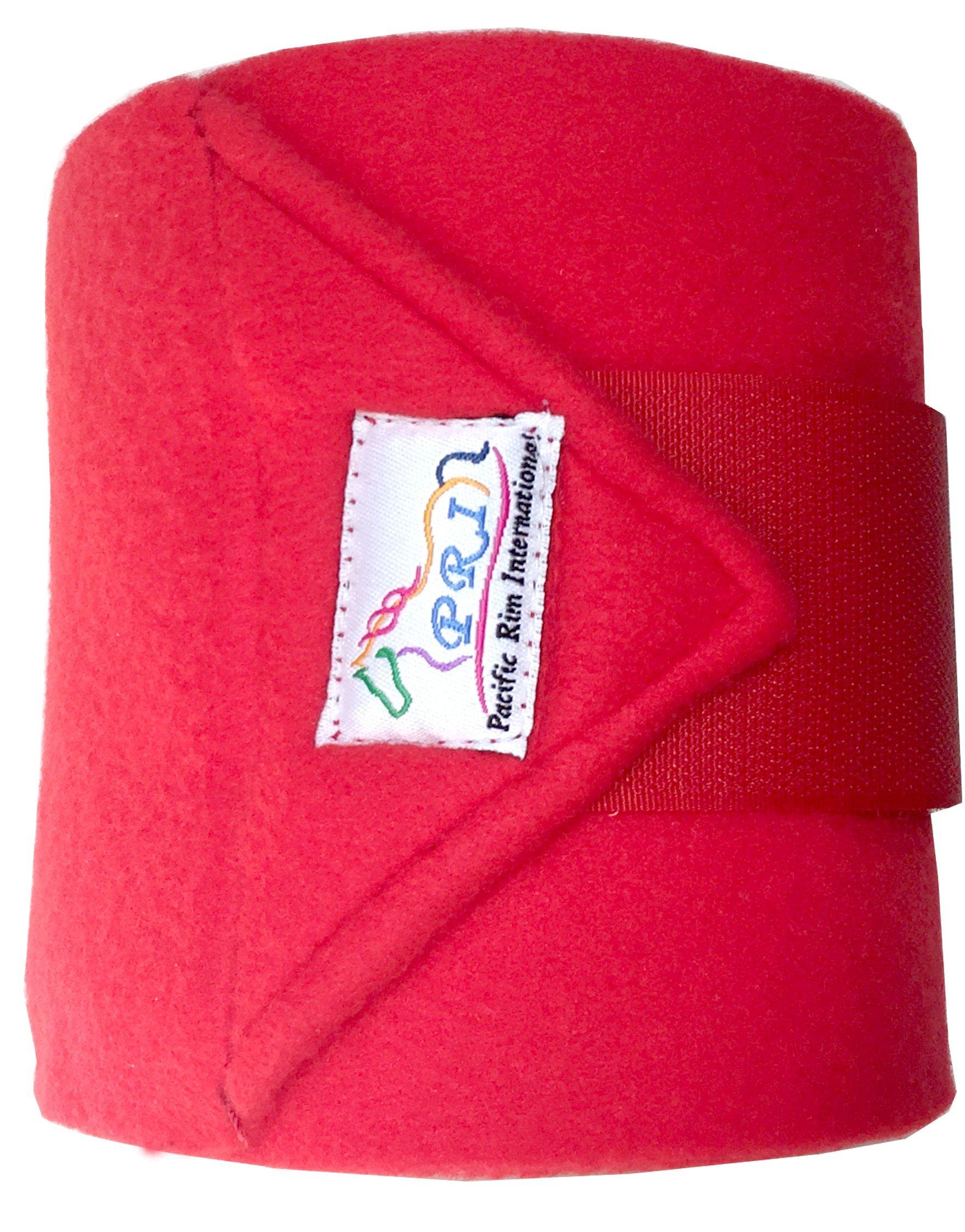 PRI Horse Leg Protection Set of Four Fleece Polo Wraps, Red, Horse Size by PRI Horse Leg Protection (Image #2)